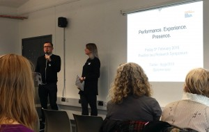 Steven Paige and Natalie Raven, organisers of the Practice Research symposium (Plymouth University, 5 February 2016)