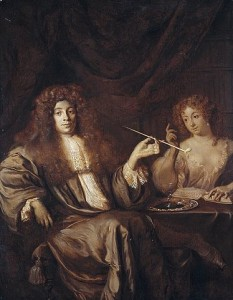 Beverland with sex worker, in a painting attributed to Ary de Vois (1631/1635–1680) - www.rijksmuseum.nl