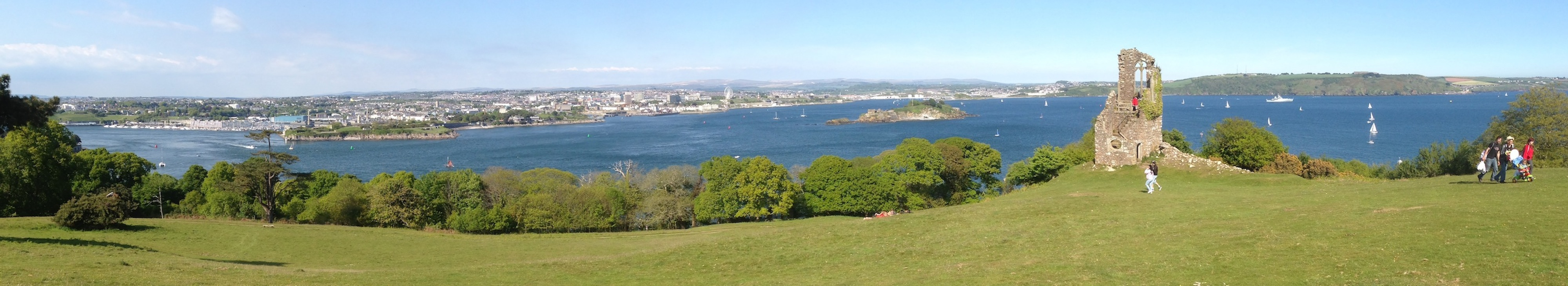 Panorama of the city from Cornwall