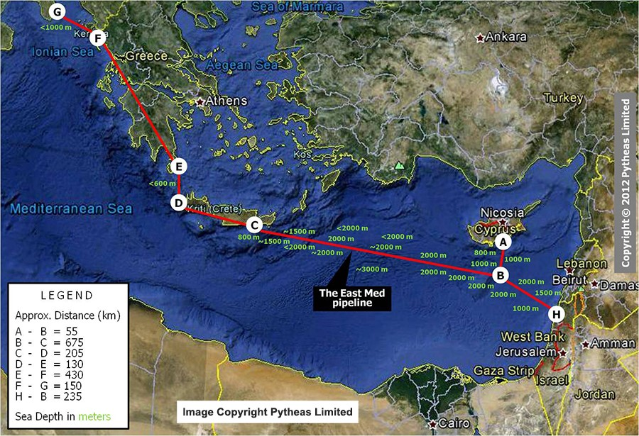 Israel, Cyprus. Greece and Italy Agree on $7 Billion East Med Gas Pipeline to Europe