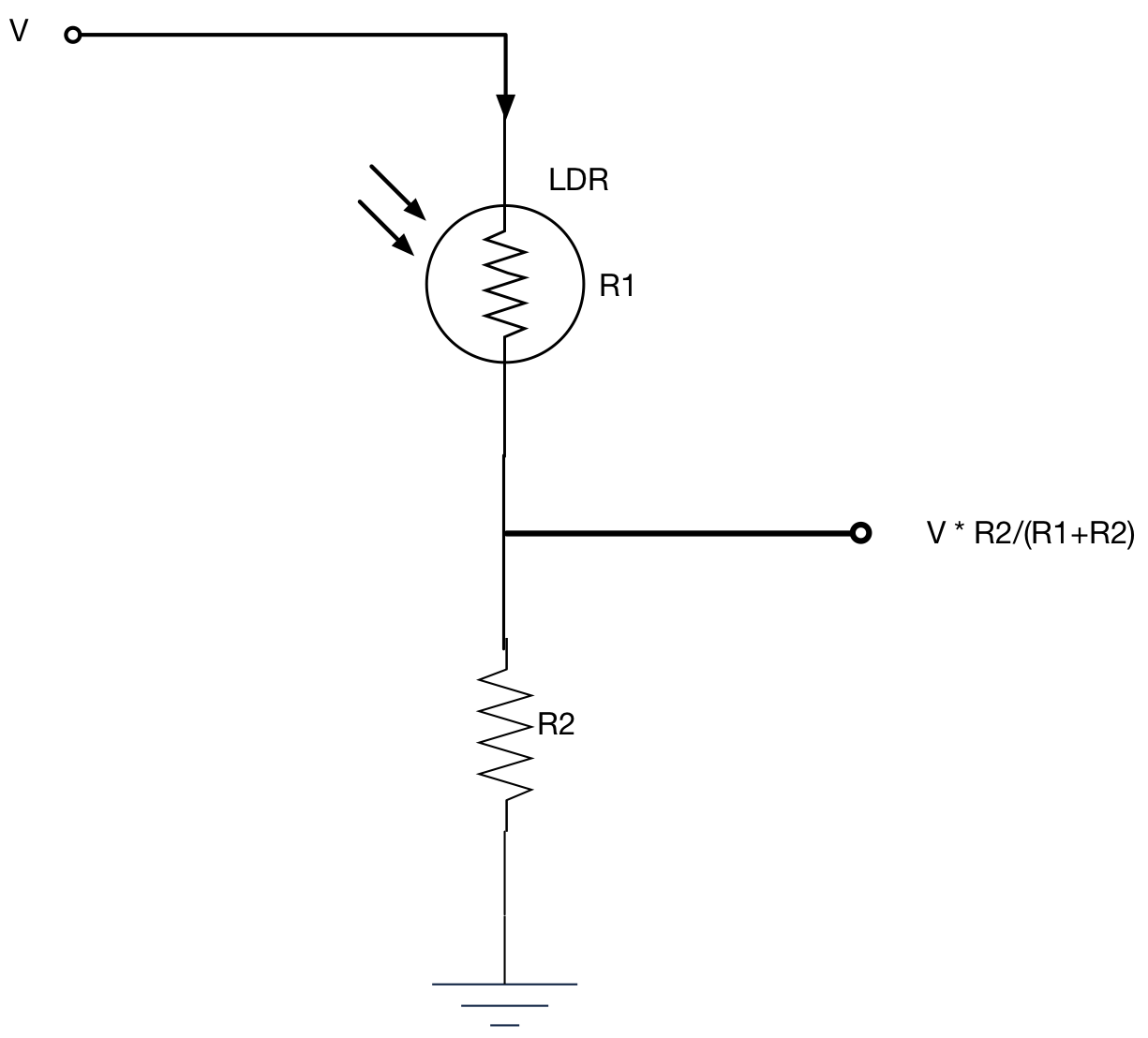 Light Dependent Resistor Ldr Glossary Entry Embedded Systems Circuit Diagram Using An Within A Potential Divider To Generate Voltage