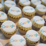 Picture of cupcakes with the google logo