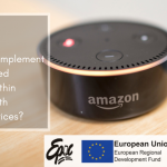 small smart speaker pictured with the event title overlaid