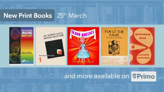 New Print books: 25th March