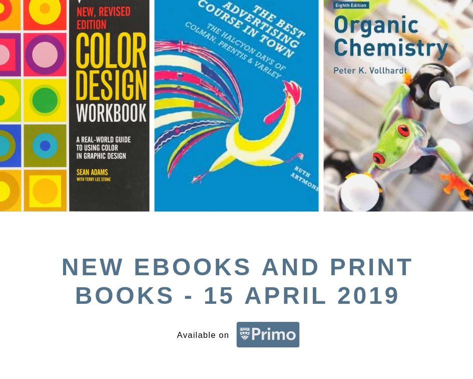 New eBooks and Print Books: 15th April 2019 - The Charles Seale