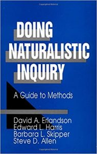 Doing naturalistic inquiry : a guide to methods