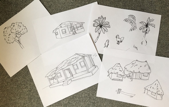village sketches