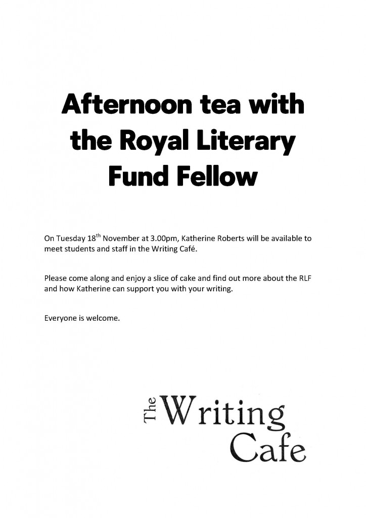 Afternoon tea with the Royal Literary Fund Fellow