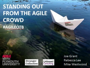 standing out from the agile crowd